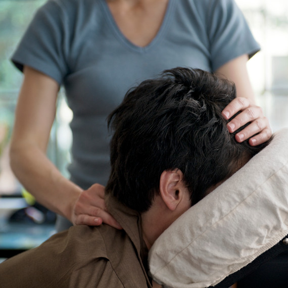 image of therapist giving massage