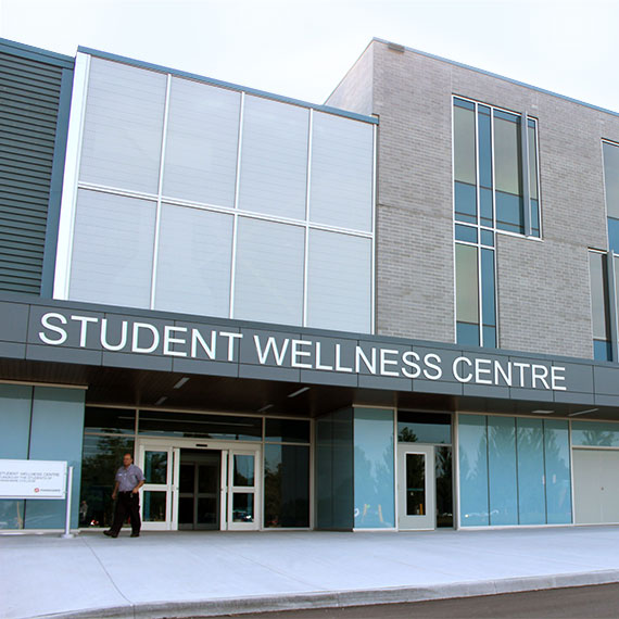 Front of the Fanshawe College Student Wellness Centre building